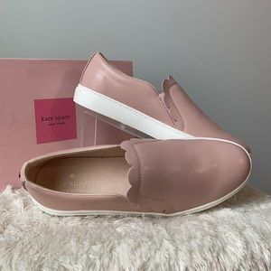 kate spade Speed Scallop Leather Slip On Sneakers